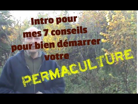 Intro pour mes 7 conseils pour bien démarrer votre permaculture