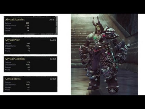 Darksiders 2 - Abyssal Armor all full set locations & crucible Walkthrough part 78 Darksiders 2