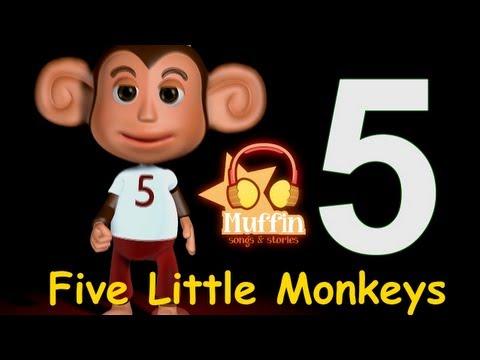 Muffin Songs – Five Little Monkeys Tekerlemeler ve İngilizce Çocuk Şarkıları