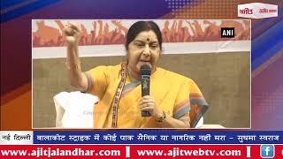 video : बालाकोट स्ट्राइक में कोई पाक सैनिक या नागरिक नहीं मरा - सुषमा स्वराज