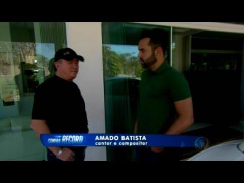 Amado Batista no Câmera Record / reportagem:Alex Sampaio