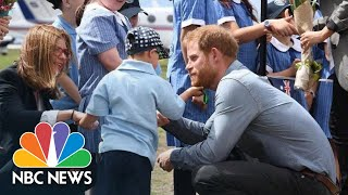 Aussie 5-Year-Old Grabs Hugs (And Beard) As Prince Harry And Meghan Visit | NBC News - NBCNEWS
