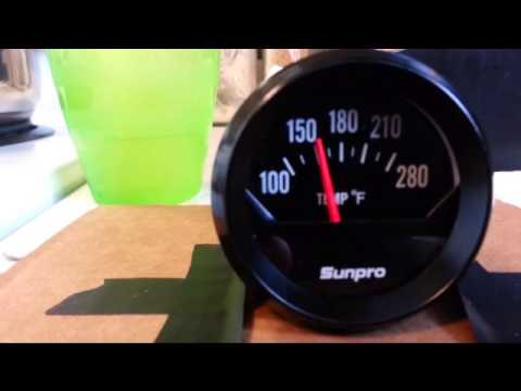 Sunpro Gauge CP8211 Electric Temp Gauge - sticking