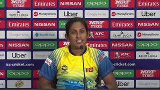 ICC Womens World T20 2018 - Sri Lankan captain Chamari Athhapathhu – post match press conference - CRICKETWORLDMEDIA