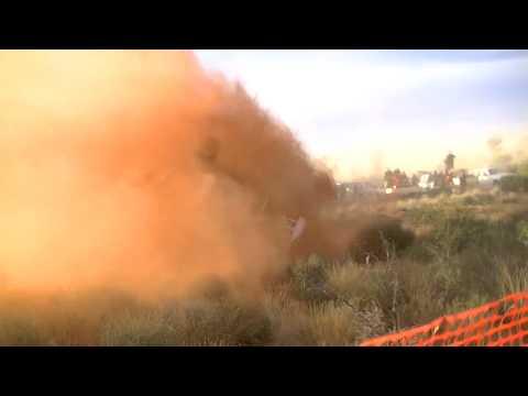 2012 finke desert race crash/rollover 40 km dune