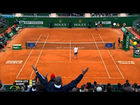 Novak Djokovic Fights Off Garcia-Lopez With Hot Shot In Monte Carlo