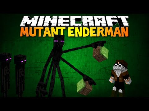 Minecraft MUTANT ENDERMAN MOD 7 Unique Attacks Ender Souls & More