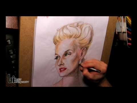 Drawing a Portrait with Color Pencils | Portrait for Tara