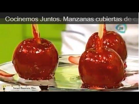 Cocinemos Juntos. Manzanas cubiertas de caramelo/ manzanas acarameladas