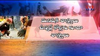 కుక్కట శాస్త్రం | Sankranthi Celebrations | Kodi Pandalu | East Godavari District | CVR NEWS - CVRNEWSOFFICIAL