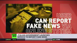 'Fake news' Red Button: Italians asked to report bogus news to police - RUSSIATODAY