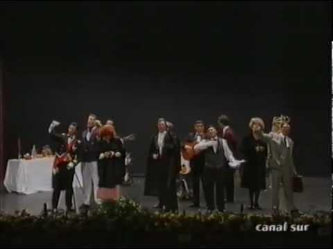 Sesión de Final, la agrupación Con el sudor del de enfrente actúa hoy en la modalidad de Chirigotas.