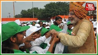 लाल किले में बच्चों से मिले PM Modi   PM Modi Independence Day Speech LIVE - AAJTAKTV