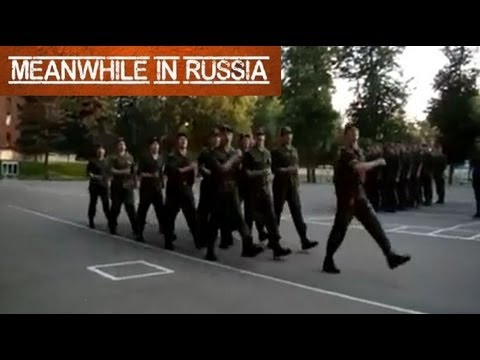 Russian army platoon singing Lady Gaga
