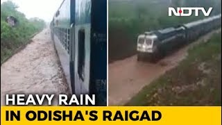 Watch: Train Gets Stuck On Waterlogged Rail Track In Odisha - NDTV