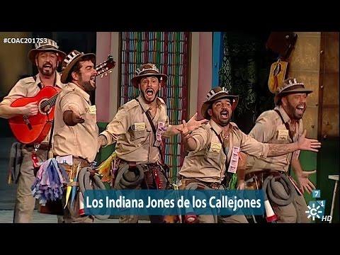 Sesión de Semifinales, la agrupación Los Indiana Jones de los callejones actúa hoy en la modalidad de Chirigotas.