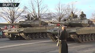 Military parade marks Latvian 100th Independence Day anniversary in Riga - RUSSIATODAY