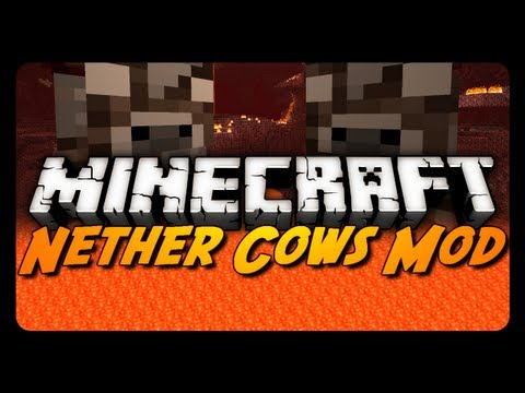 Minecraft Mod Showcase: NETHER COWS MOD! (Best & Worst Mod Ever!)