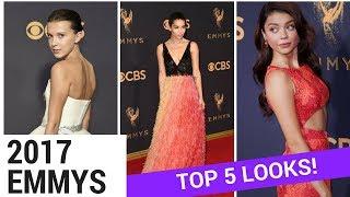 EMMYS 2017 - Top 5 Best Dressed! (Millie Bobby Brown, Sarah Hyland, Zoe Kravitz) - HOLLYWIRETV