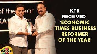 KTR received prestigious 'Economic Times Business Reformer of the Year | #KTRBusinessAward|MangoNews - MANGONEWS