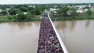 Thousands Of Migrants Stopped At Guatemala-Mexico Border | NBC Nightly News - NBCNEWS