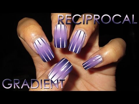 Reciprocal Gradient Nail Art Tutorial