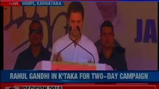 Udupi: Rahul Gandhi embarks on 3rd leg of Karnataka tour - NEWSXLIVE