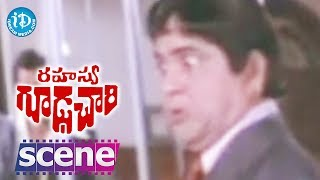 Rahasya Gudachari Movie Scenes - Krishna Fights With Goons || Krishna || Jayaprada - IDREAMMOVIES