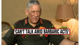 Army Chief on NewsX | On talks with Pak - NEWSXLIVE