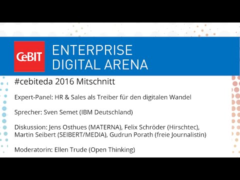 "#cebiteda16: Expert-Panel ""HR & Sales als Treiber für den digitalen Wandel"""