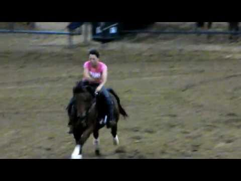 "Valley View Ranch horse ""Sonofagun"" in training 4/5/12 Barrel race 16.299 - brushed barrel :-["
