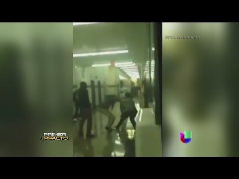 Increíbles imágenes de una violenta pelea entre estudiante y su maestra