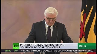 'Situation unseen in decades': German president on failed coalition talks - RUSSIATODAY