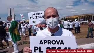 STMC participa de ato em Brasília em favor da enfermagem.