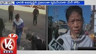 Indian Boxer Mary Kom participated in 'Swachh Bharat' mission - V6NEWSTELUGU
