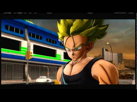 Dragonball Z Ultimate Tenkaichi: Future Saga -\/- Trunks Vs Android 18 & 17!