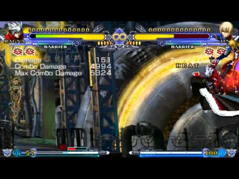 Blazblue CS II PSP Ragna combo 100 Hits