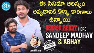 George Reddy Movie Actors Sandeep Madhav & Abhay Full Interview | Talking Movies With iDream - IDREAMMOVIES