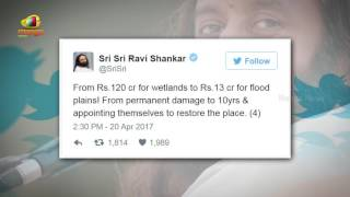 Sri Ravi Shankar TWEETS  Blaming The Green Panel Centre | Yamuna Floodplains | Mango News - MANGONEWS