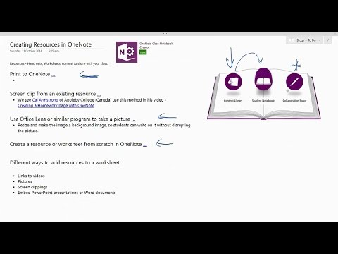Creating worksheets and handouts for your OneNote Class Notebook