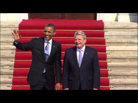 Raw: German President Welcomes President Obama