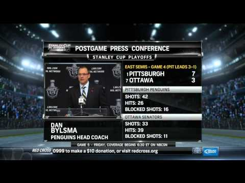 Dan Bylsma postgame press conference May 22 2013 Pittsburgh Penguins vs Ottawa Senators NHL Hockey