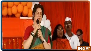 Priyanka Gandhi Vadra addresses a public gathering in Prayagraj - INDIATV