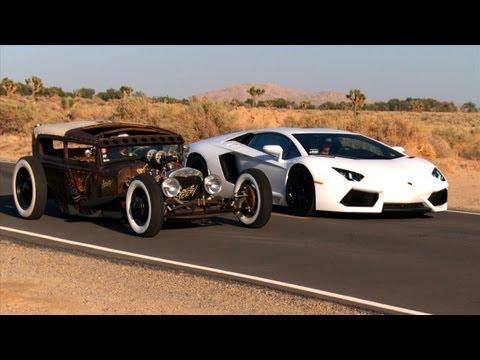 Rat Rod vs Lamborghini Aventador