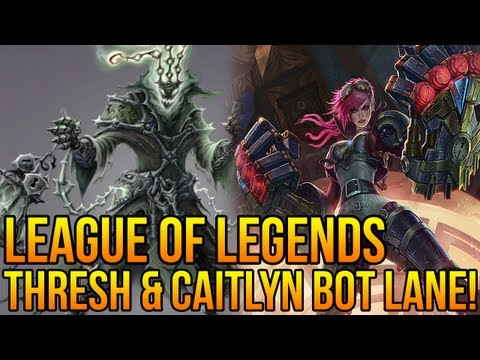 League of Legends : Thresh Support Gameplay! &quot;First impressions&quot; (Full Gameplay/ Commentary)
