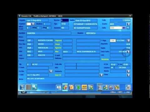 Recepción - Software para Hoteles Arpón