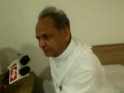 Ex. CM Ashok Gehlot Talking to Press in Ramdevra, Pokhran