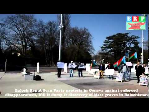 Baloch protests in Geneva against ongoing atrocities