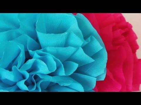"Manualidad para San Valentin - Flor de papel crepe -""Superfacil"" - Paper Flower"