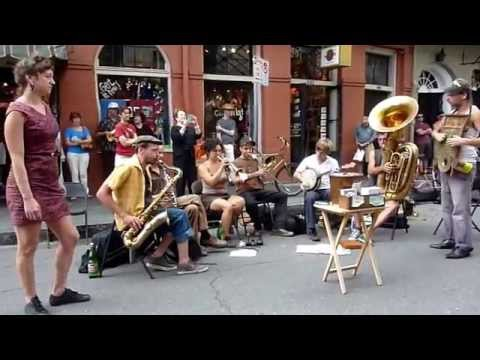 Tuba Skinny  plays &quot;Crow Jane&quot; on Royal St 4/16/12
